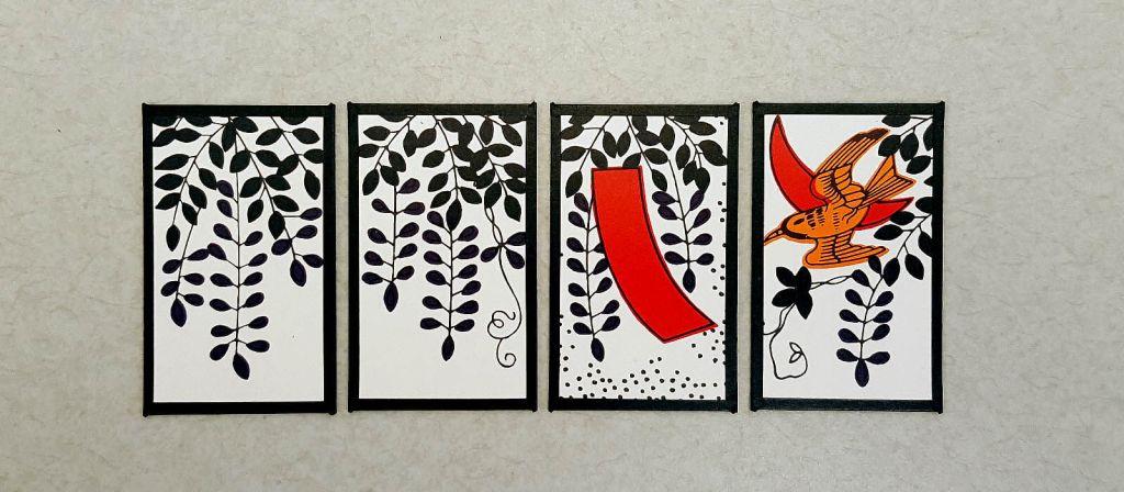 Hanafuda cards for April